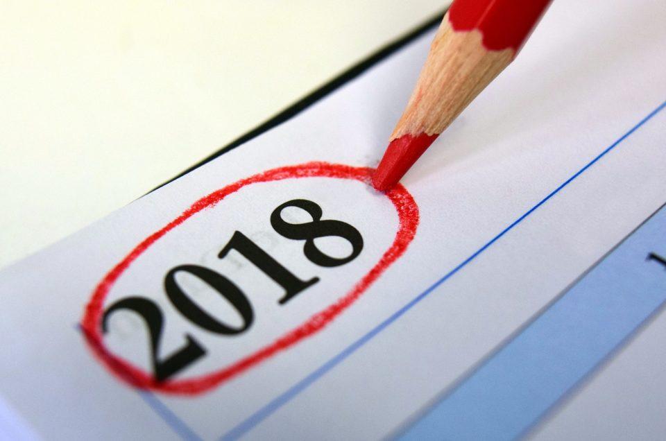 Календарь праздничных дней на 2018 год!
